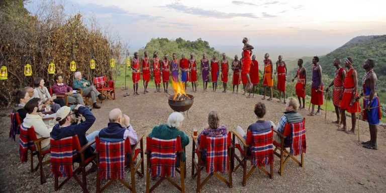 4 Maasai manyatta village